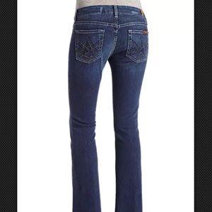 """7 For All Mankind Womens """"A"""" Pocket Mini Stud Jean"""